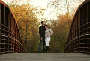 Outdoor engagement portrait in Warrenton, Virginia.