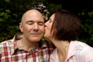 Engagement portrait kiss at Fort C.F. Smith in Arlington, Virginia.