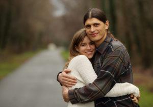 Outdoor engagement portrait in Warrenton, Virginia.