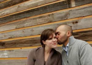 Engagement portrait session in Mosaic District in Fairfax, Virginia.