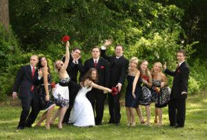 Outdoor wedding portrait in Annandale, Virginia