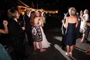 Hugs after the wedding reception in Annandale, Virginia.