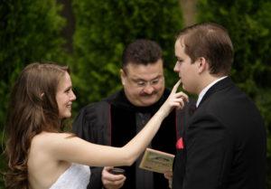 Outdoor wedding ceremony in Annandale, Virginia.