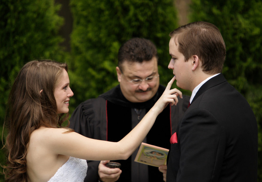 Nicole and John's wedding ceremony in Annandale, Virginia. Jud McCrehin Photography