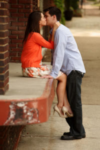 Engagement portait session in Old Town Alexandria, Virginia.