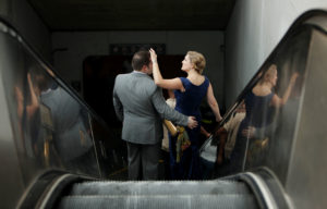 Washington D.C. metro heading to wedding