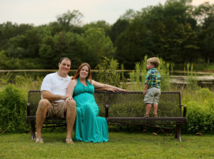 Family portrait in Marshall, Virginia