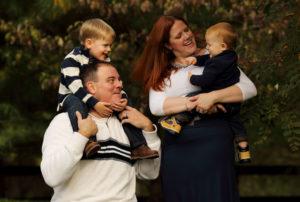 Family portrait in Marshall, Virginia Photo by Jud McCrehin Photography