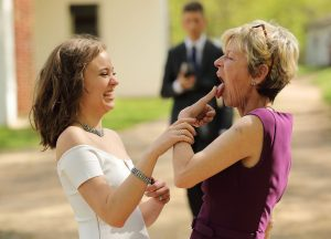 Mom and daughter (bride)
