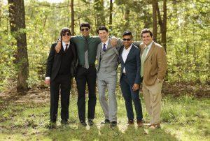 Portrait of groomsmen