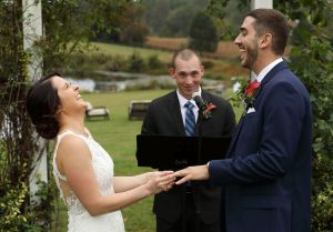 Outdoor wedding at Walden Hall, Reva, Virginia
