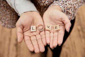 Engagement hands love